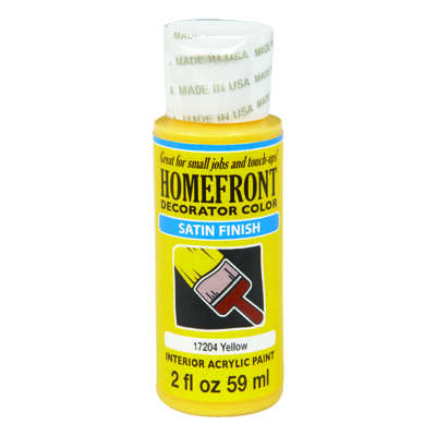 Homefront  Satin  Yellow  Hobby Paint  2 oz.