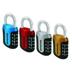 Wordlock  0.8 in. H x 1.8 in. W x 3-1/2 in. L Steel  4-Dial Combination  Padlock  1 pk
