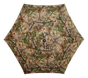 Living Accents  MARKET  9 ft. Brown  108 in. Dia. Tiltable Umbrella