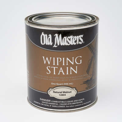 Old Masters  Semi-Transparent  Natural Walnut  Oil-Based  Wiping Stain  1 qt.