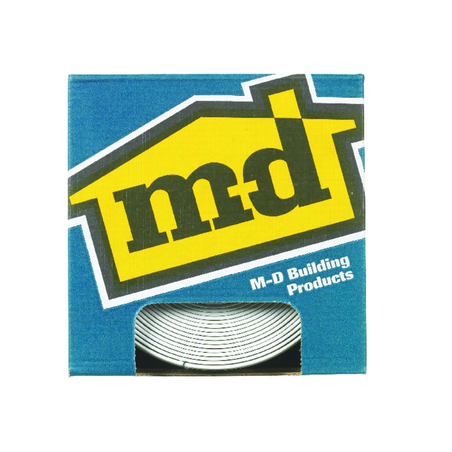 M-D Building Products 1/8 in. L Prefinished White Wall Base Vinyl ...