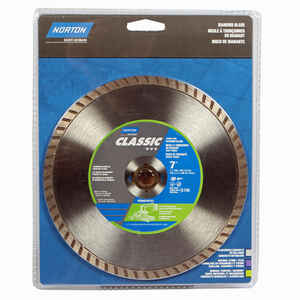 Norton  7  Diamond  Classic  Turbo Saw Blade  0.09 in.  5/8 and 7/8  1 pc.