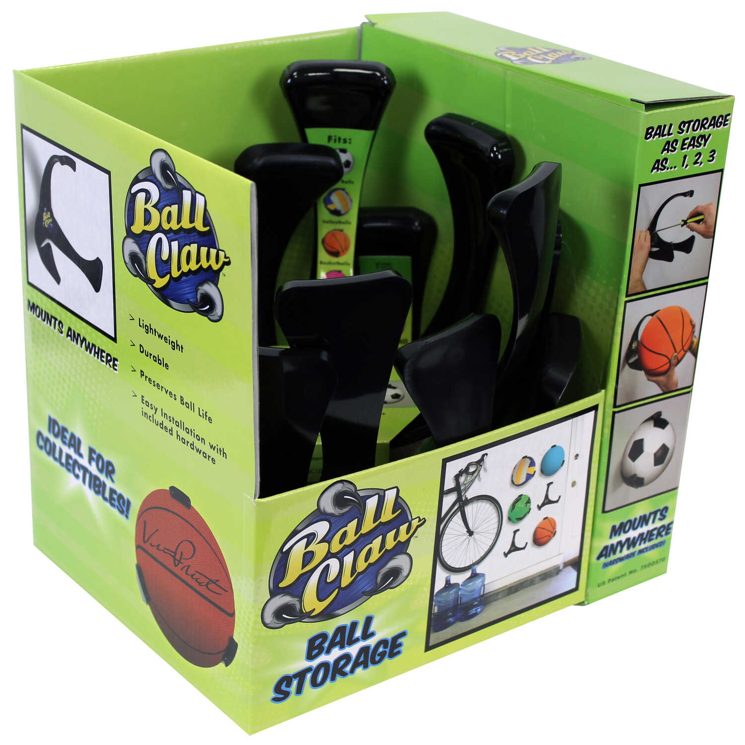 Ball Claw  Black  Plastic  Round  Organizer  22 oz. 1 pk