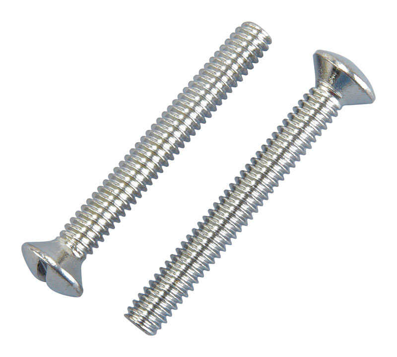 Ace  2 in. L Chrome  Faceplate Screws