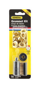 General Tools  3/8 in. Dia. Brass  Grommet Kit  24 pk