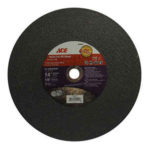 Ace  14 in. Dia. x 1 in.  Silicon Carbide  Metal Cut-Off Blade  1 pc.