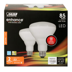 Feit Electric  Enhance  BR30  E26 (Medium)  LED Bulb  Soft White  85 Watt Equivalence 2 pk
