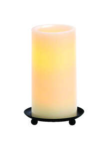Inglow  Vanilla Scent Butter Cream  Candle  6 in. H