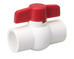 B&K  ProLine  1-1/2 in. PVC  Compression  Ball Valve  Full Port