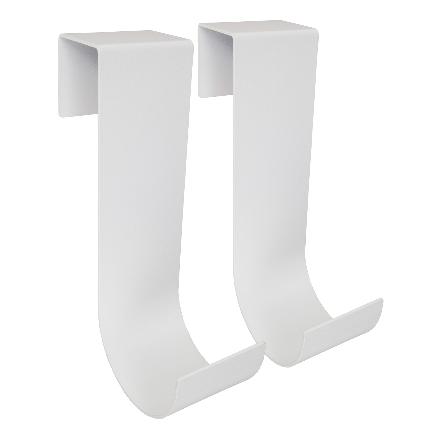 Mide Products  Powder Coated  10 in. L Aluminum  Long  Fence Mount  Hook  25 lb. 2 pk White