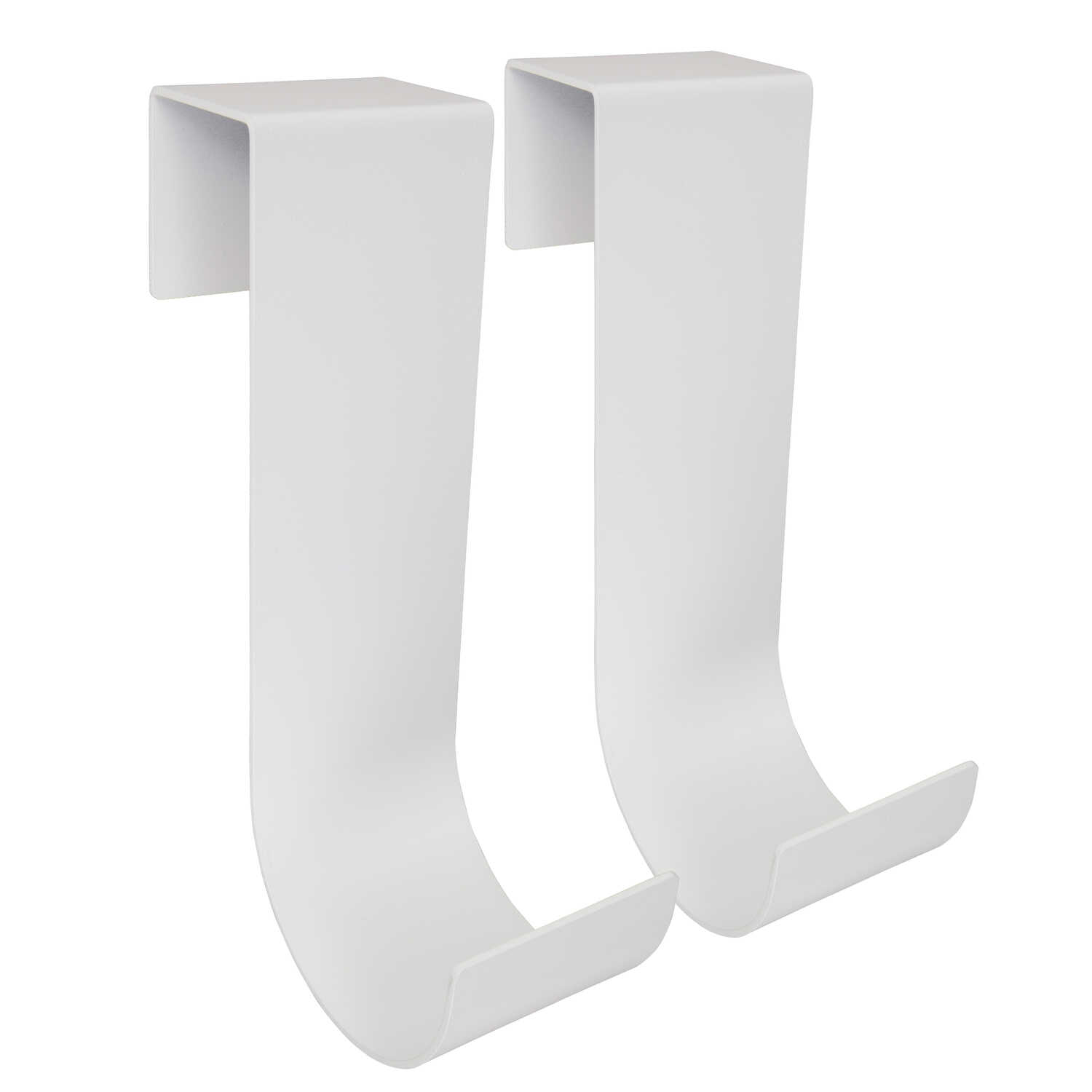 Mide Products  10 in. L Powder Coated  White  Aluminum  Long  Fence Mount  Hook  25 lb. 2 pk