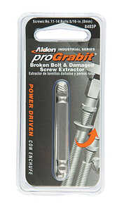 Alden  Grabit Pro  Multi Size   x 3/8 in. Dia. M2 HSS  Double Ended Screw & Bolt Extractor  1 pk