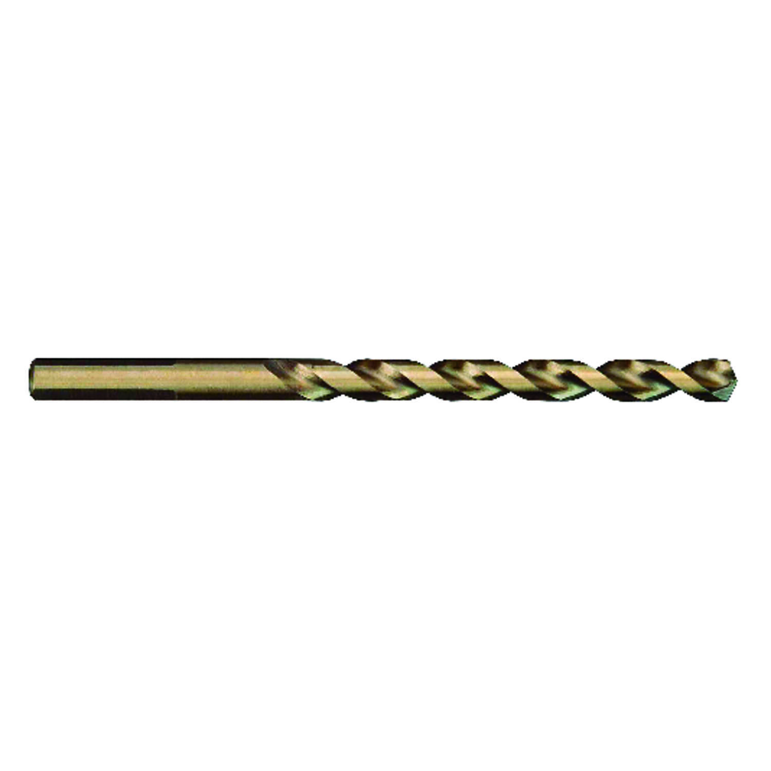 Milwaukee  RED HELIX  1/8 in. Dia. x 2-3/4 in. L Cobalt Steel  THUNDERBOLT  Round Shank  1 pc. Drill