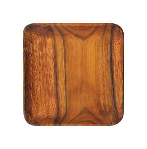 Pacific Merchants  Brown  Acacia Wood  Plate  1