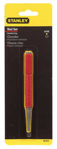 Stanley  5 in. L Steel  Nail Set  1 pc. Red
