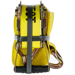 Keeper  2 in. W x 27 ft. L Yellow  Tie Down w/Ratchet  3333 lb. 2 pk