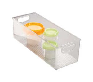 InterDesign  Kitchen Binz  6 in. H x 5 in. W x 16 in. D Stackable Storage Bin