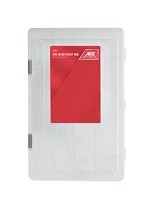 Ace  14 in. Plastic  Utility Box  9-1/8 in. W x 3-1/4 in. H Clear