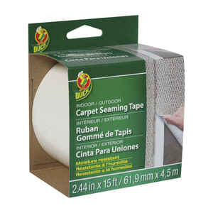 Duck  2.44 in. W x 15 ft. L Polyester  Indoor and Outdoor  Carpet Tape