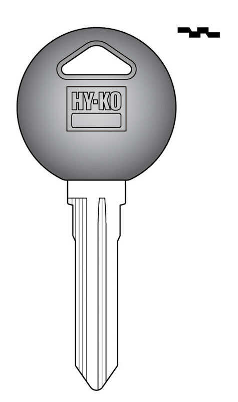 Hy-Ko  Automotive  Key Blank  EZ# MZ13P  Double sided For Fits Many Ignitions