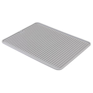 InterDesign  Lineo  12-1/2 in. W x 16 in. L Grey  Silicone  Drying Mat
