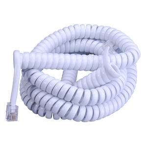 Monster Cable  Just Hook It Up  25 ft. L White  Telephone Handset Coil Cord