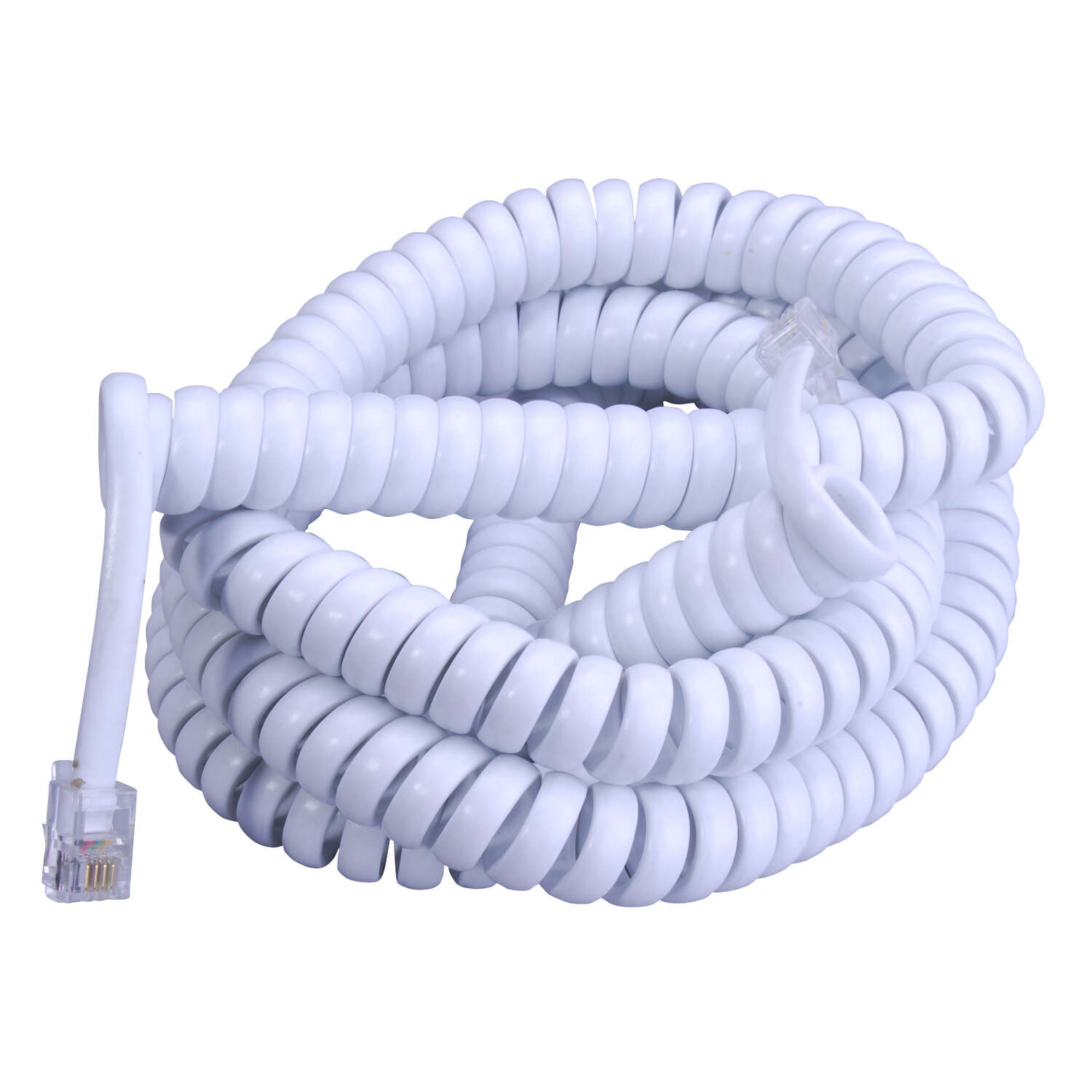Monster Cable  25 ft. L White  Telephone Handset Coil Cord