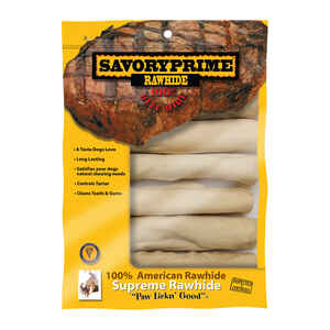 Savory Prime  All Size Dogs  Adult  Rawhide Bone  Natural  6 in. L 6 pk