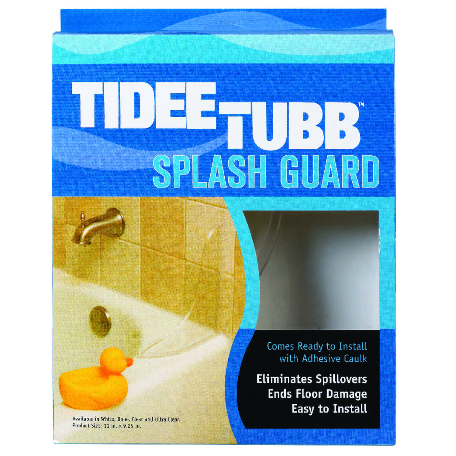 Plumb Pak  Tidee-Tubb  Splash Guard  11 in. H x 9.3 in. L Ultra Clear  Plastic