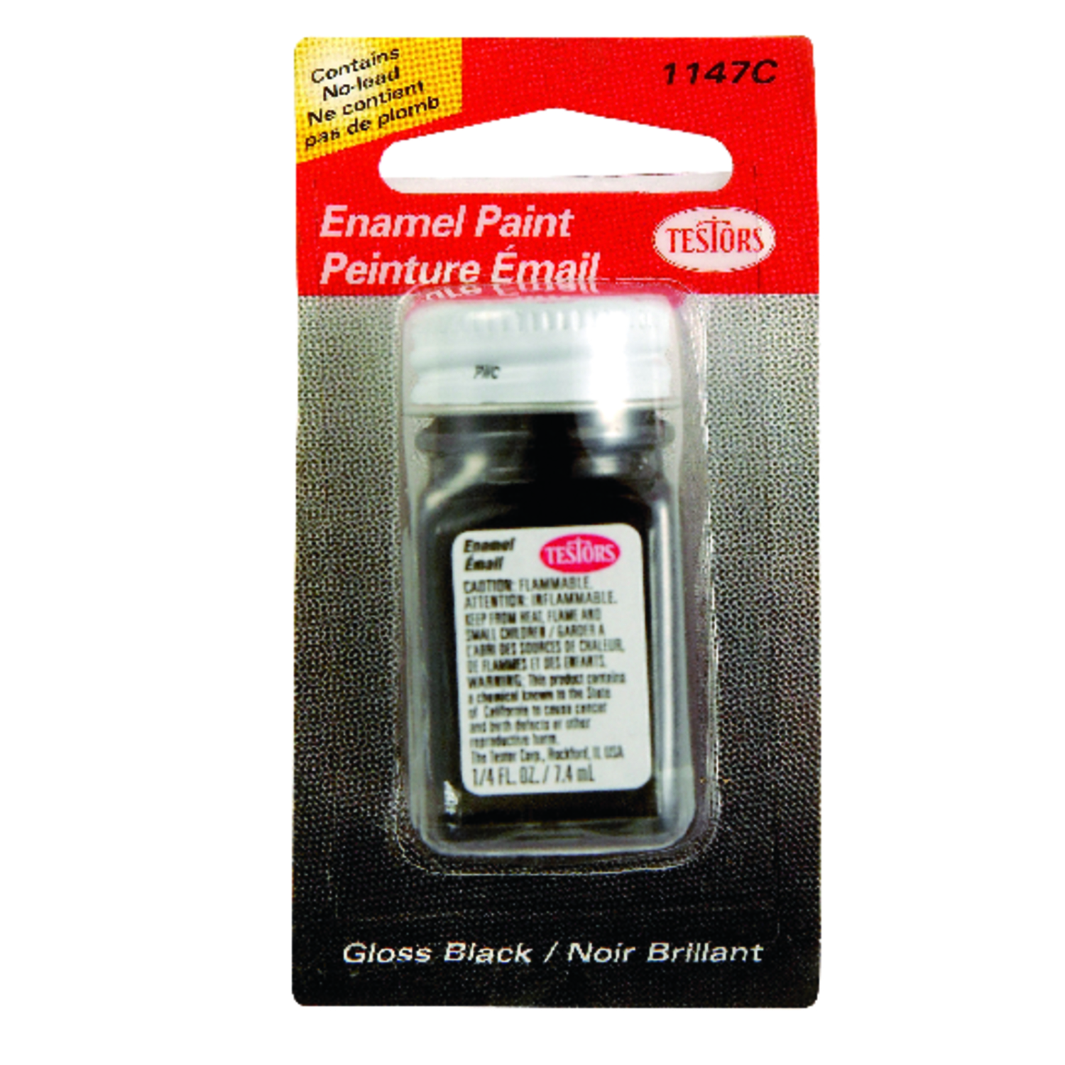 Testors  1/4 oz. Black  Hobby Paint  Gloss