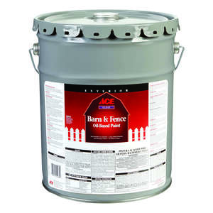 Ace  Barn Red  Oil-Based  Barn and Fence Paint  Gloss  5 gal.