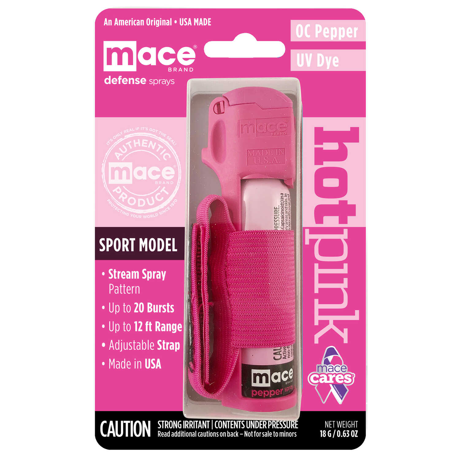 Mace  Sport Model  Pink  Plastic  Pepper Spray