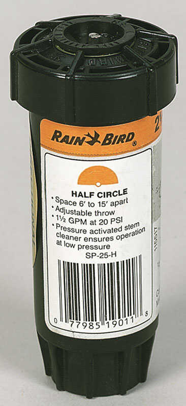 Rain Bird  Sure Pop  2-1/2 in. H Half-Circle  Sprinkler Spray Head