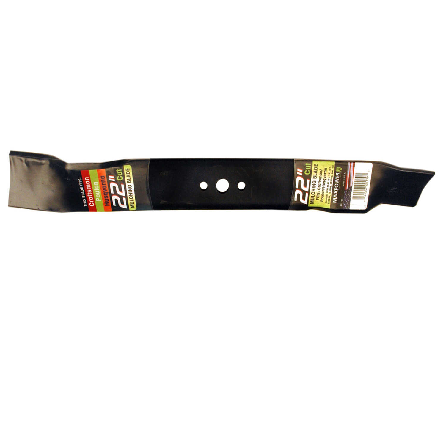 MaxPower  22 in. Mulching  Mower Blade  For Walk-Behind Mowers 1 pk