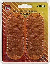 Peterson  Amber  Oblong  Reflector  1 pk