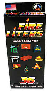 Fire Liters  Wood Fiber  Fire Starter  36 pk