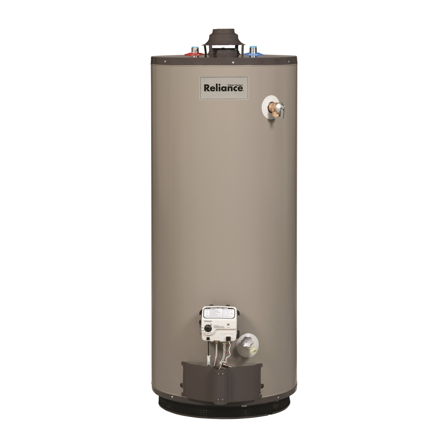 Reliance  Natural Gas  Water Heater  51-1/2 in. H x 22 in. L x 22 in. W 40 gal.