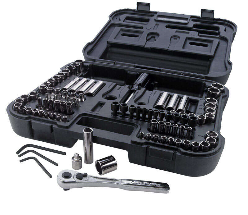 Craftsman  3/8 in.  x 1/4 and 3/8 in. drive  Metric and SAE  6 and 12 Point Mechanic�s Tool Set  104