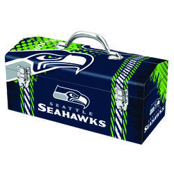 Windco  16.25 in. Steel  Seattle Seahawks  Art Deco Tool Box  7.1 in. W x 7.75 in. H