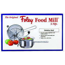 Foley  112 oz. Metallic  Stainless Steel  Food Mill