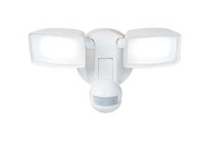All-Pro  Motion-Sensing  180 deg. LED  1  Outdoor Floodlight  Hardwired  White