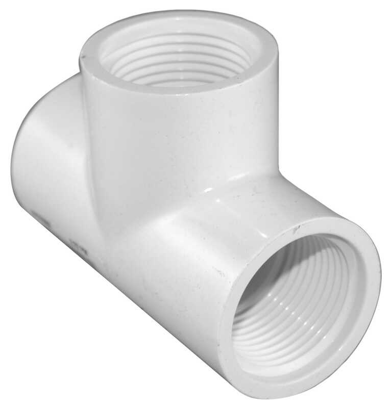 Charlotte Pipe  Schedule 40  3/4 in. FPT   x 3/4 in. Dia. FPT  PVC  Threaded Tee