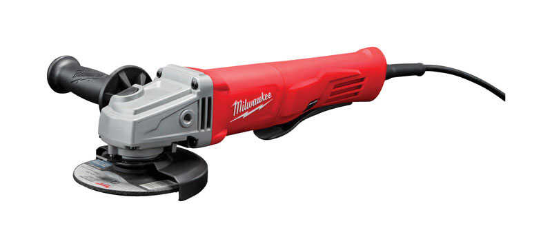Milwaukee  No-Lock  4-1/2 in. 120  11 amps Straight Handle  Angle Grinder  11000 rpm Corded
