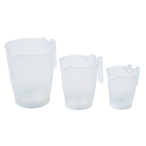 Home Plus  Plastic  Clear  Measuring Cup Set
