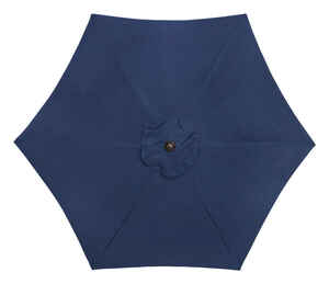 Living Accents  MARKET  9 ft. Tiltable Navy  Patio Umbrella