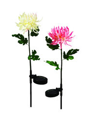 Luminous Garden  Nylon  Multicolored  24 in. H Floral  Solar Garden Stake