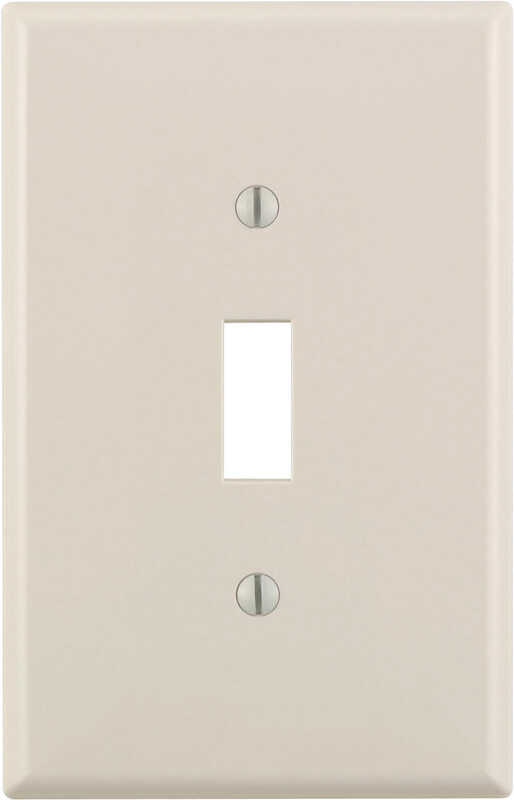 Leviton  Midway  Almond  1 gang Nylon  Toggle  Wall Plate  1 pk