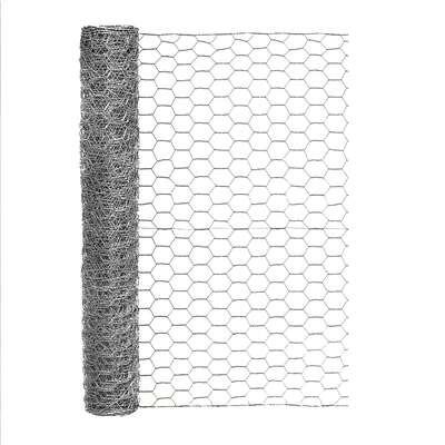 Garden Craft 24 in. H x 25 ft. L 20 Ga. Gray Poultry Netting