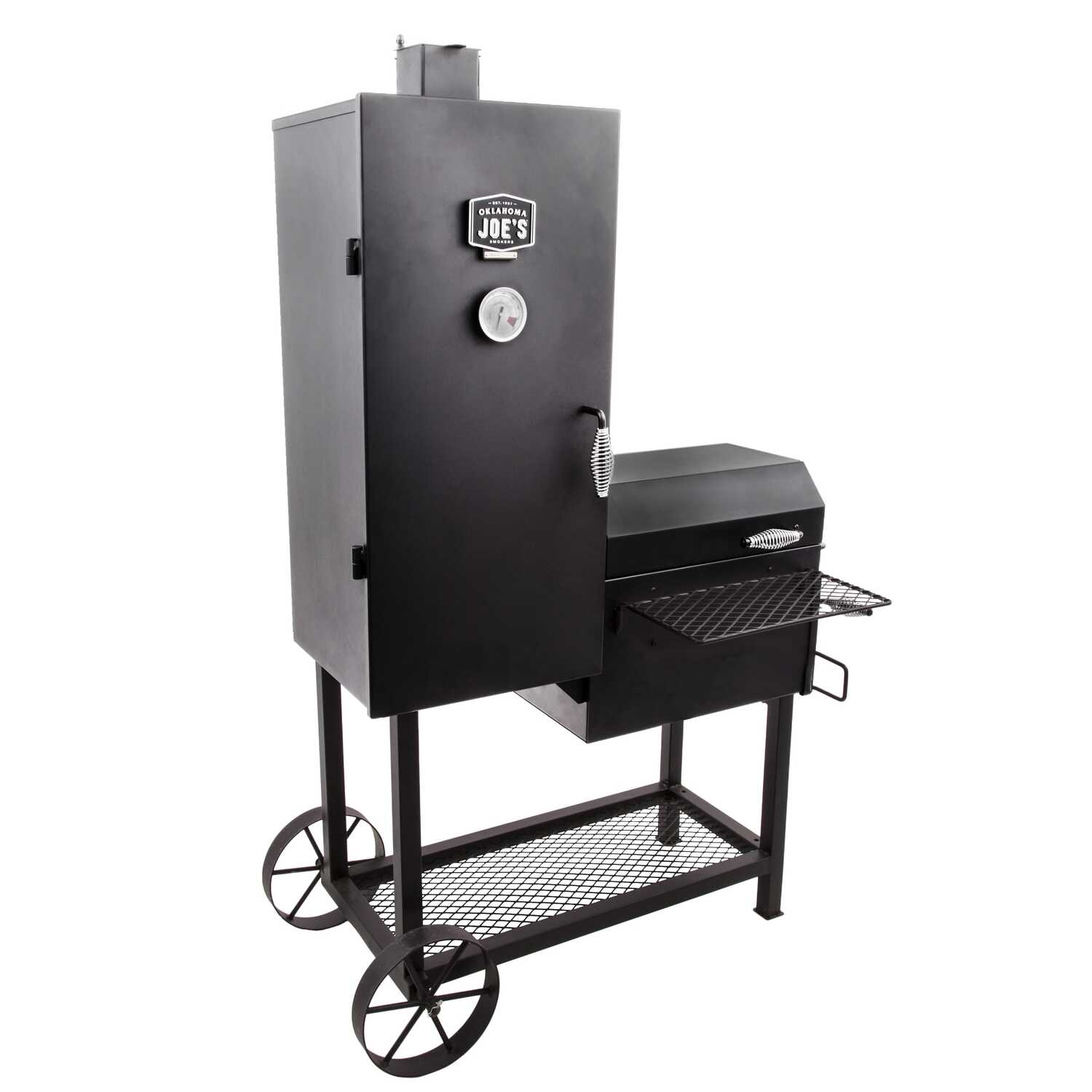 Oklahoma Joes  Oklahoma Joe's Bandera  39.3 in. W Smoker Cooker  Black  Charcoal