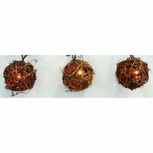Living Accents  Light Set  Grapevine Ball  9 ft. Clear